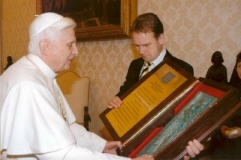 Benoît XVI et Dieter Althaus