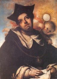 Thomas d'Aquin composant l'hymne Pange lingua